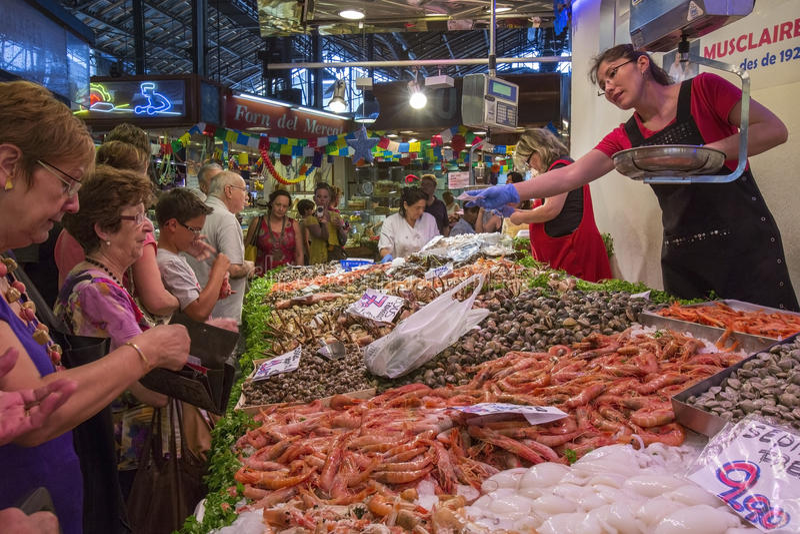 Barcelona - St Joseph Food Market - Spain. royalty free stock photos
