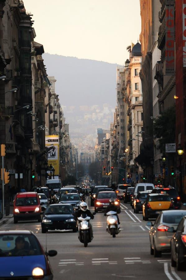 Barcelona-Straße 2 stockbild