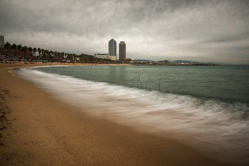 Barcelona strand fotografering för bildbyråer