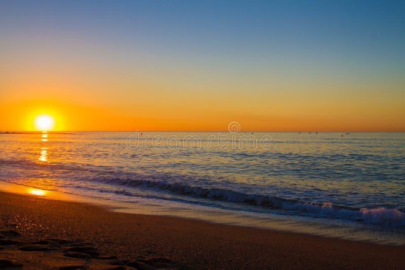 Barcelona sunrise stock photos