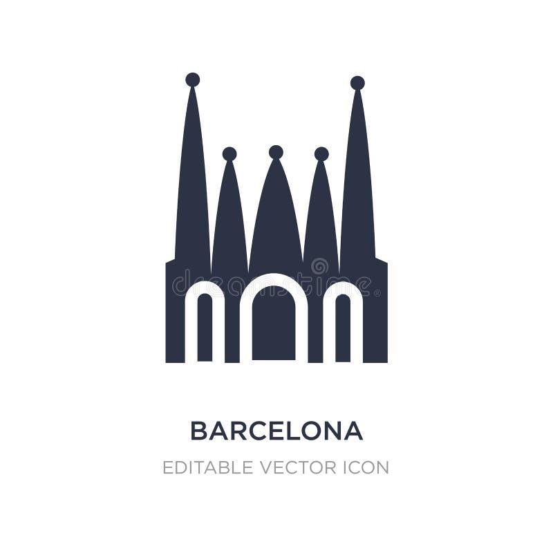 barcelona symbol på vit bakgrund Enkel beståndsdelillustration från monumentbegrepp vektor illustrationer