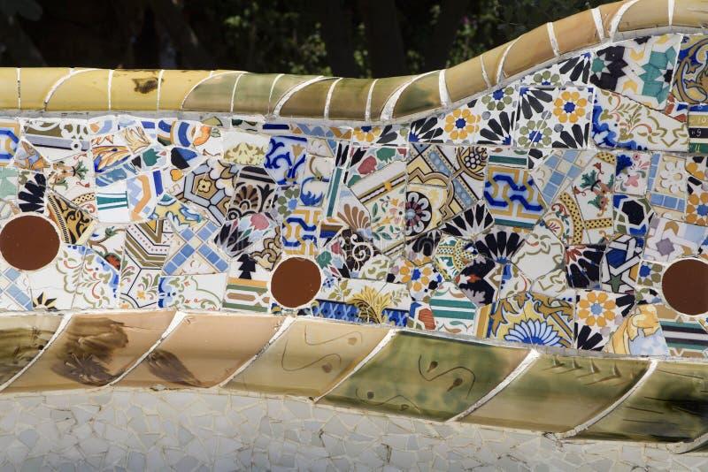 barcelona szczegółu gaudi guell park zdjęcie stock