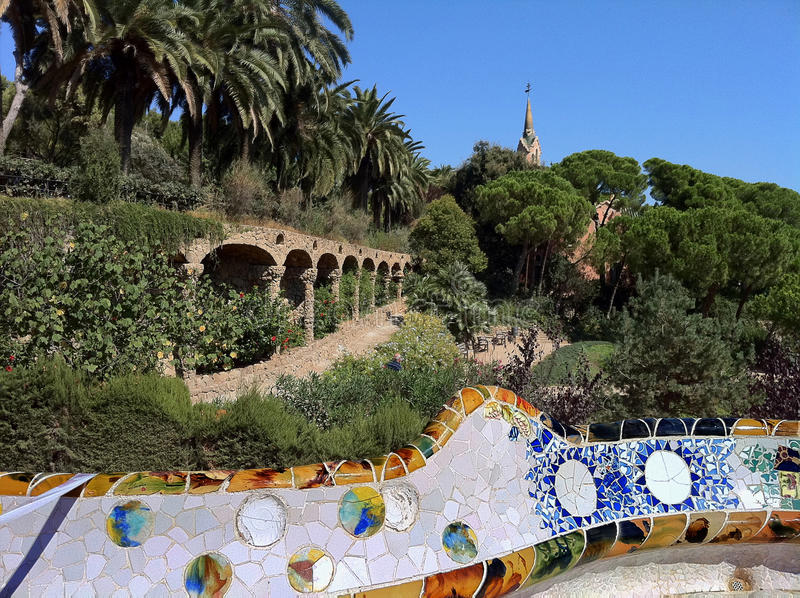 Download Barcelona. A Terrace  In Park Guell Stock Photo - Image of park, gaudi: 26705582