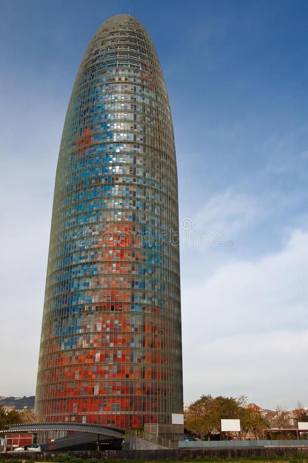 Barcelona - Torre Agbar. Torre Agbar in the Poblenou neighborhood of Barcelona. Owned by the Agbar Group, a holding company that include the water company Aig royalty free stock photos