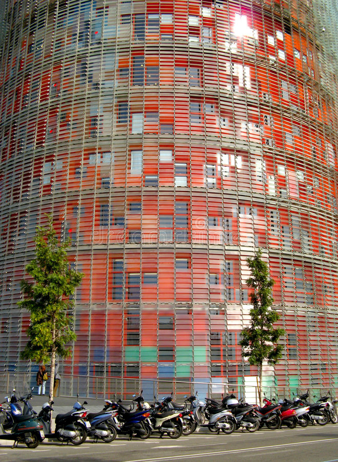 Barcelona, Torre Agbar stock photography