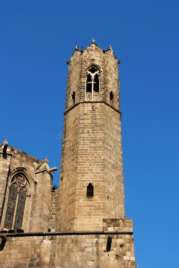 Barcelona: torre medieval de la capilla de Santa Agata fotografía de archivo