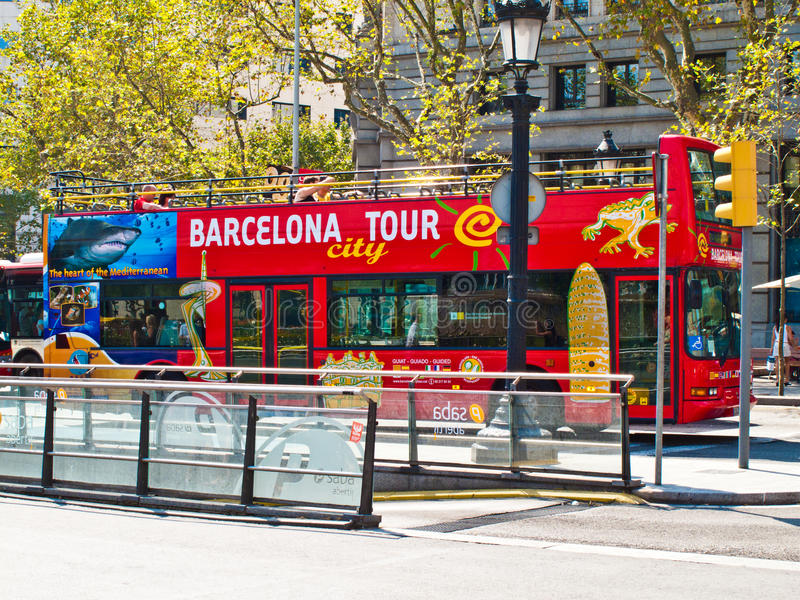 Barcelona Tour bus stock photos