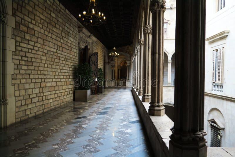 Barcelona townhall royalty-vrije stock afbeelding