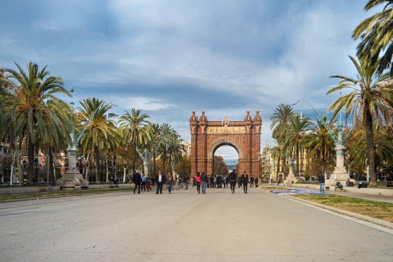 Barcelona Triumph båge fotografering för bildbyråer