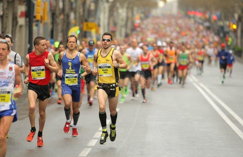 Barcelona maraton zdjęcia royalty free