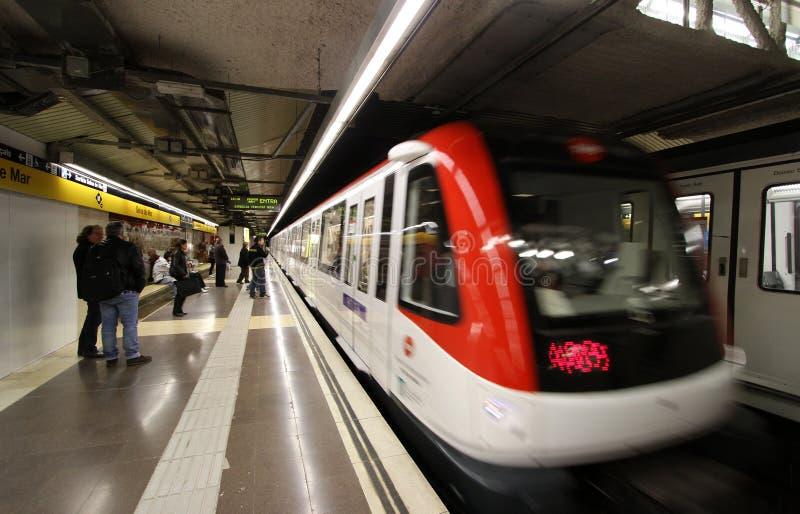 Barcelona-Untergrundbahn stockfoto
