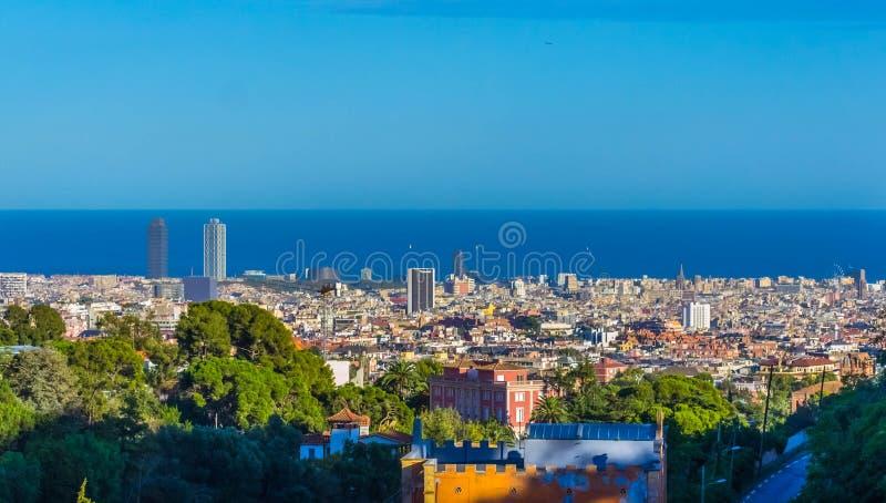 Barcelona van de Heuvel stock foto