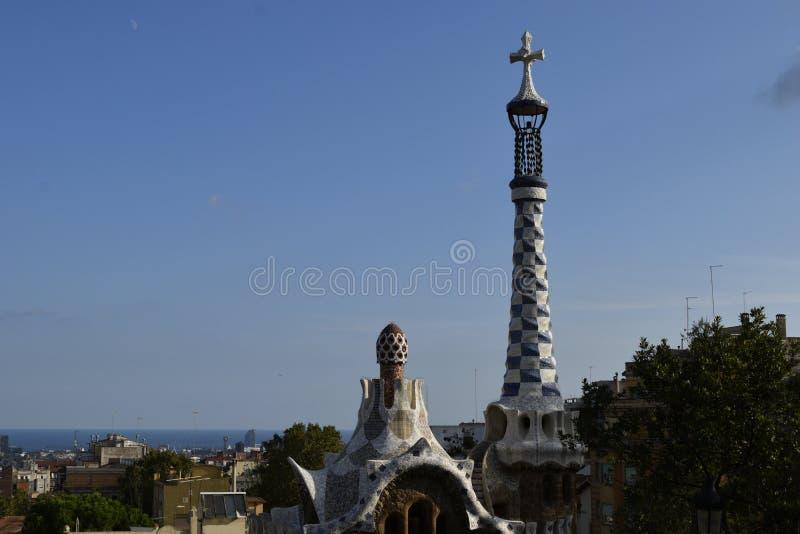Barcelona van Park Guell royalty-vrije stock foto