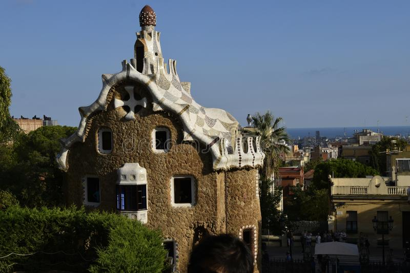 Barcelona van Park Guell royalty-vrije stock fotografie
