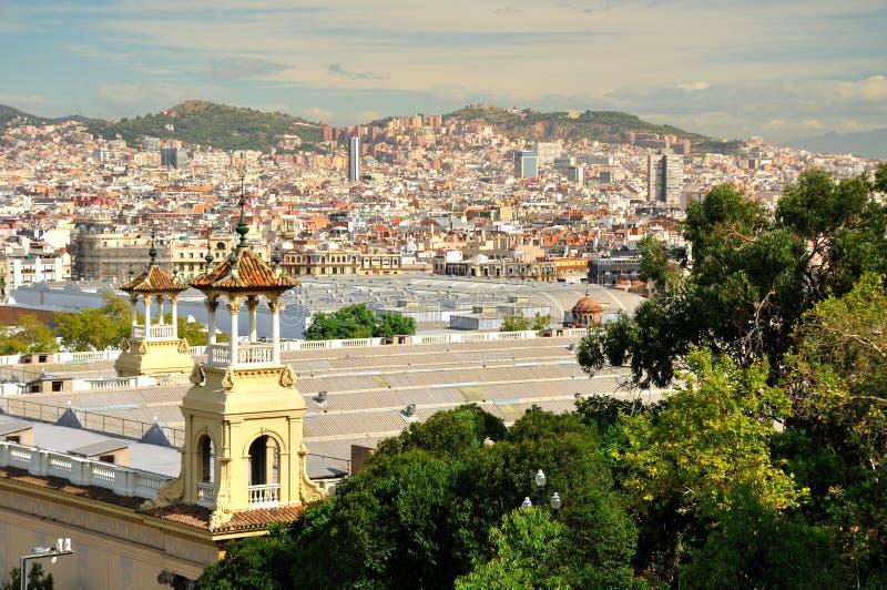 Barcelona view. stock photos