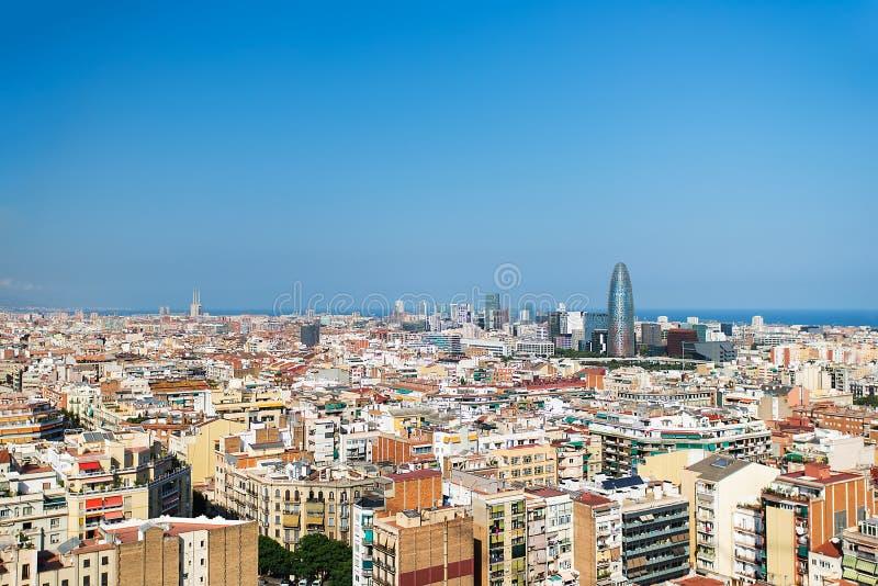 Download Barcelona-Vogelansicht-Stadtbild Stockfoto - Bild von blau, spanisch: 26354460