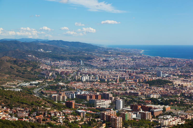 barcelona widok zdjęcie stock