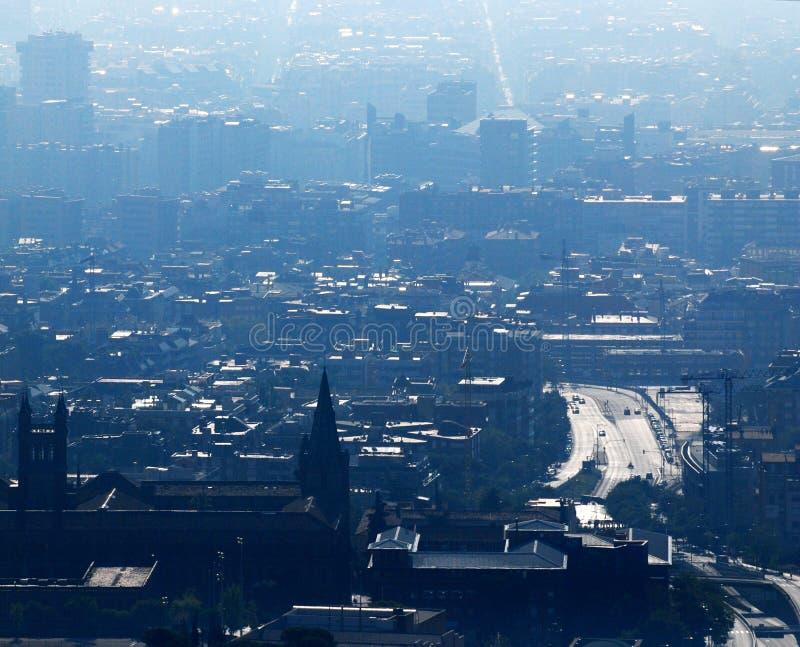 Barcelona widok lotniczego zdjęcia stock