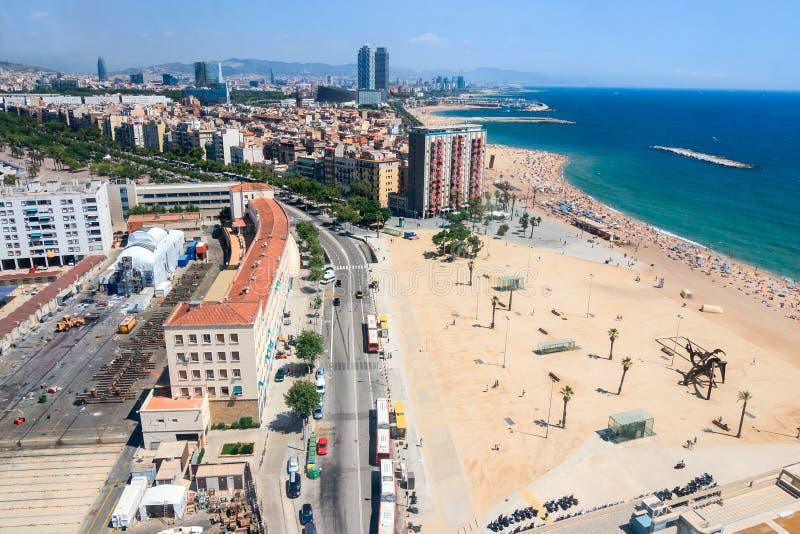 Barcelona widok z lotu ptaka obrazy royalty free
