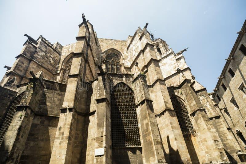 Barcelona y x28; Spain& x29;: la catedral gótica fotografía de archivo libre de regalías