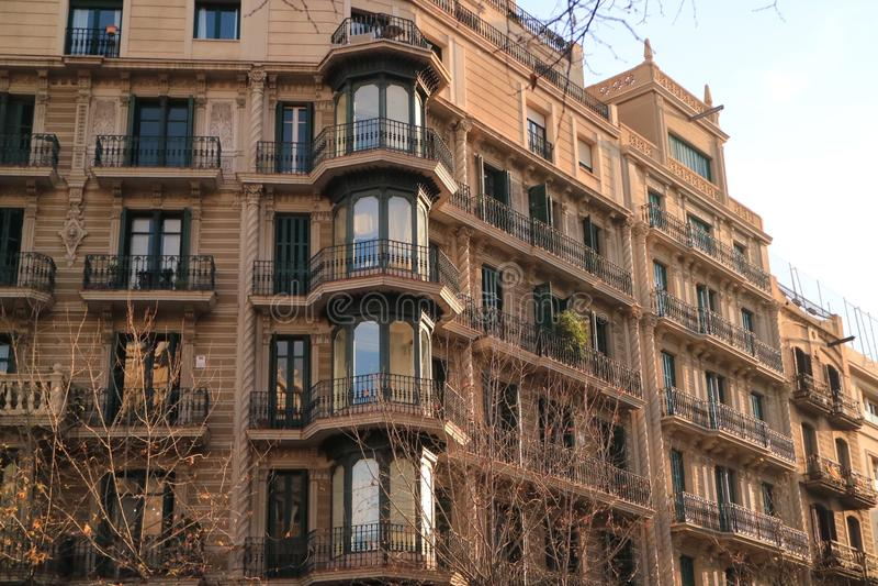 Barcelonaise de la arquitectura imagen de archivo libre de regalías