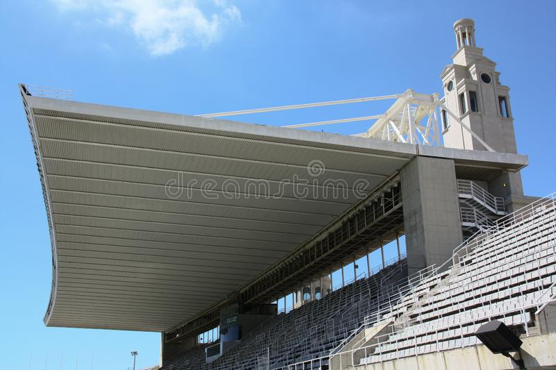 Barcelonas arena - tribune with roof. One part of the arena in Barcelona with that gigantic roof above stock photos
