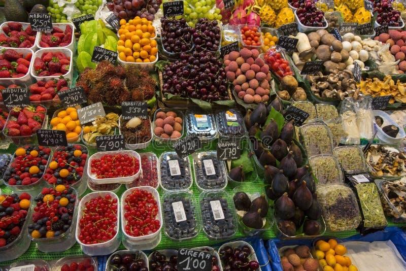 Barcelona - Food Market - Spain royalty free stock photography