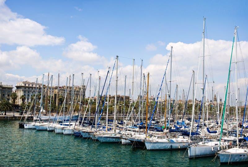 Barcelonas yachtklubba arkivfoton