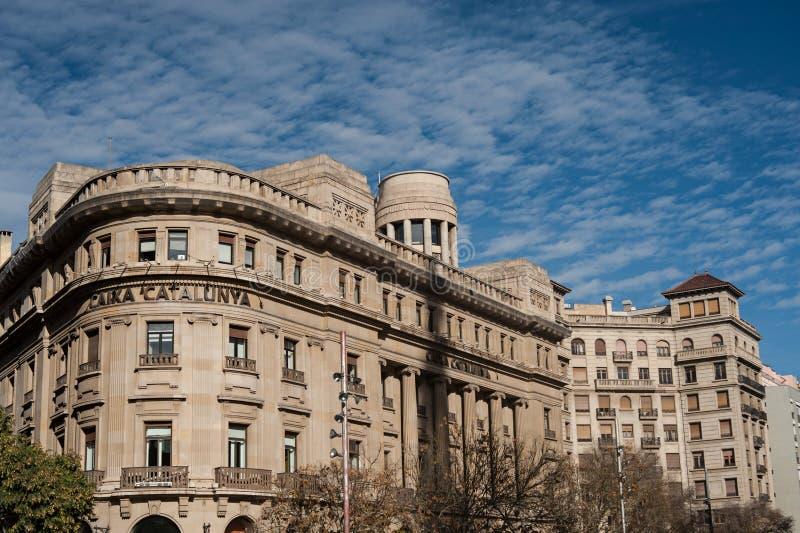 Barcelone, banque de la Catalogne dans Plaça de la seu image stock