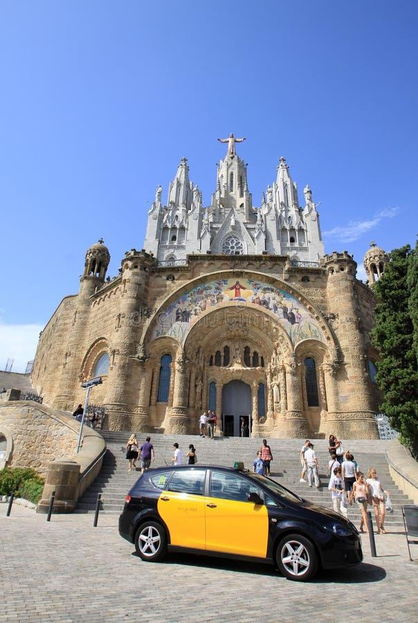 Barcelone, Catalogne, Espagne - 29 août 2012 : Église expiatoire du coeur sacré de Jésus sur Tibidabo images stock