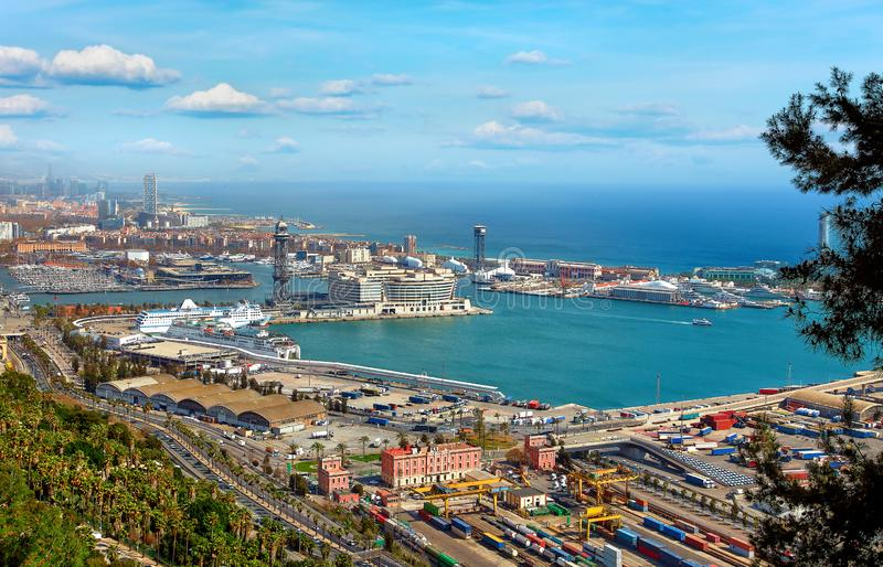 Barcelone, Catalogne, Espagne Vue supérieure photo stock