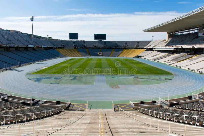 BARCELONE, ESPAGNE - 18 mars 2018 : L'Estadi vide Olimpic Llui photo libre de droits