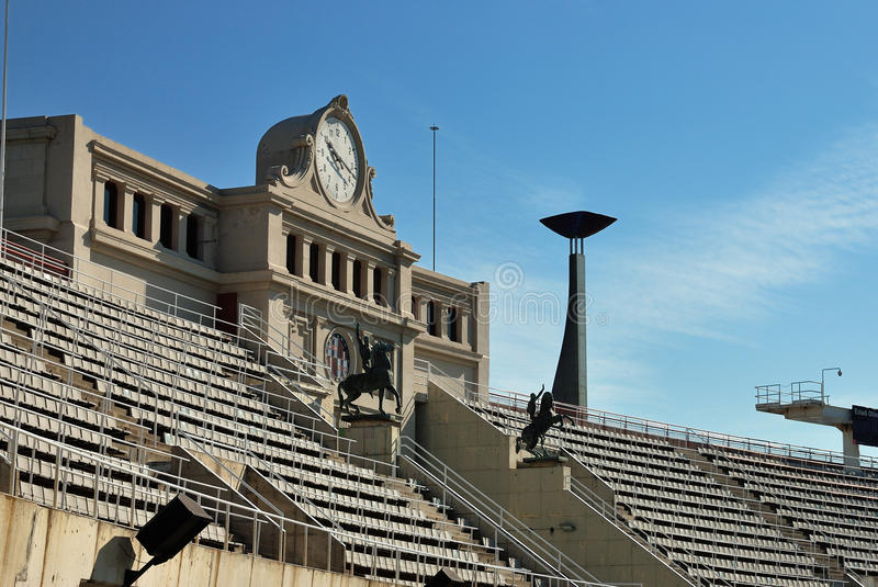 Barcelone. Le Stade Olympique images stock