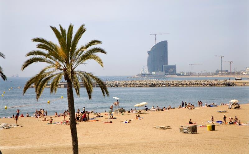 Barcelone - plage photographie stock libre de droits