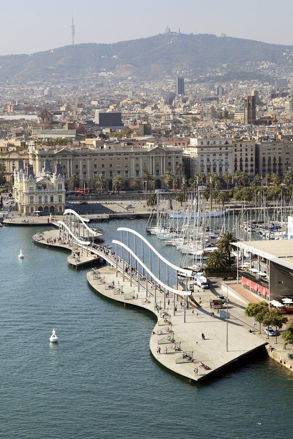 Barcelone, Rambla Del Mar image libre de droits