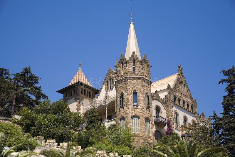 Barcelone - villa sur le Tibidabo images stock