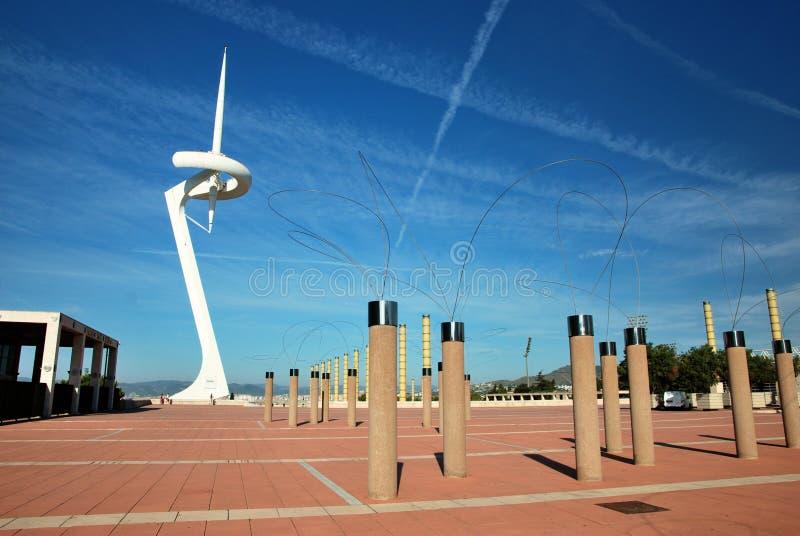 Barcelone, ville olympique photo libre de droits