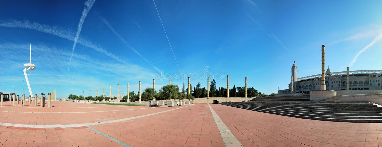 Barcelone, ville olympique photographie stock