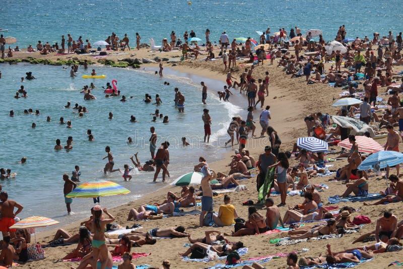 Barceloneta海滩西班牙 免版税库存照片