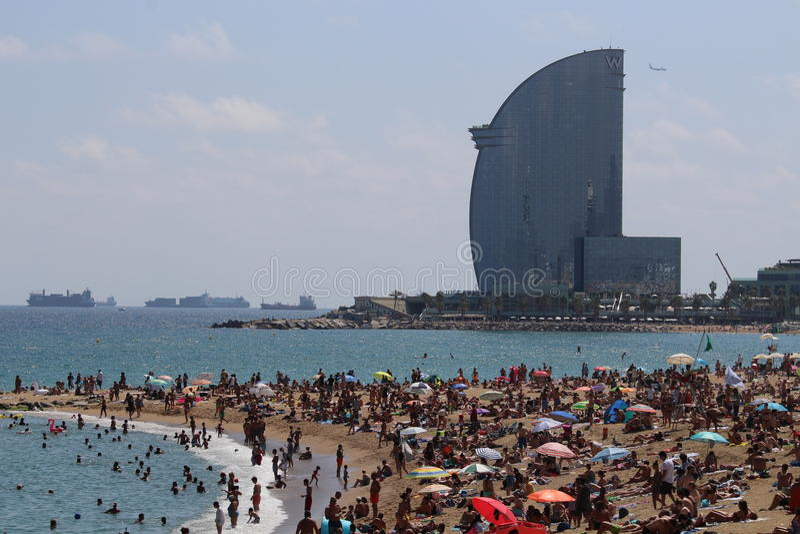 Barceloneta海滩西班牙 图库摄影