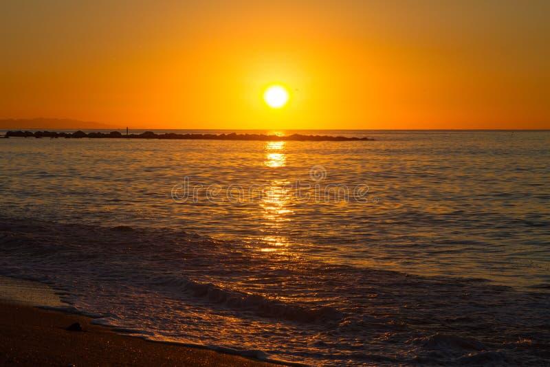 Barcelona sunrise royalty free stock photography