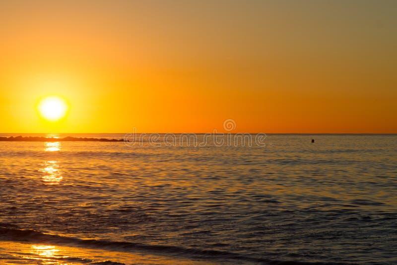 Barcelona sunrise royalty free stock photos
