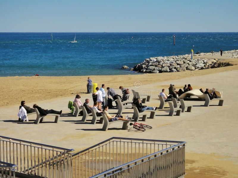 Barceloneta Beach royalty free stock photos