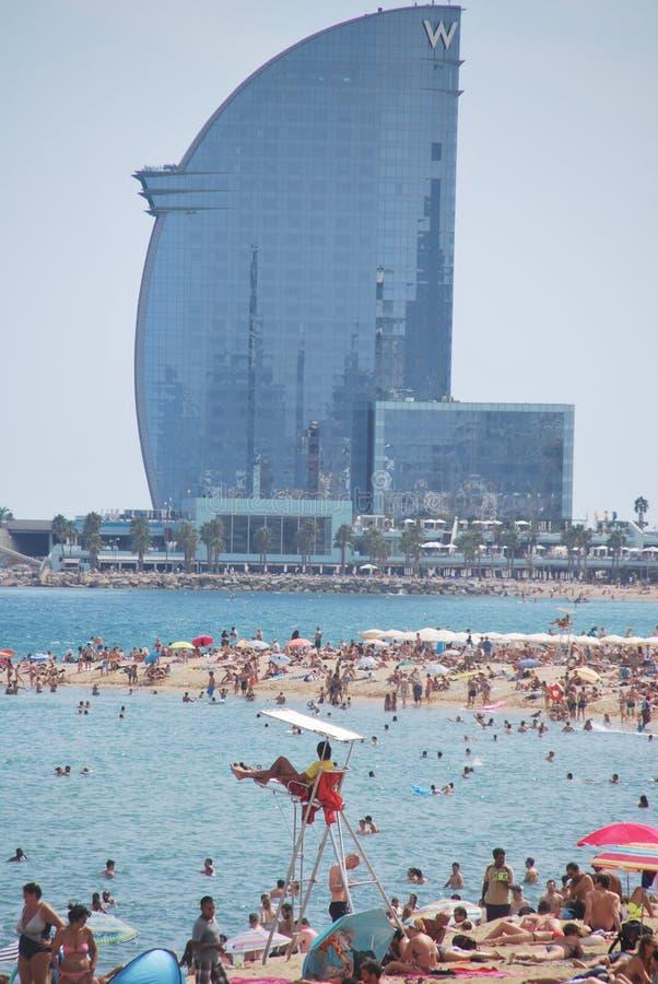 Barceloneta plaża fotografia royalty free