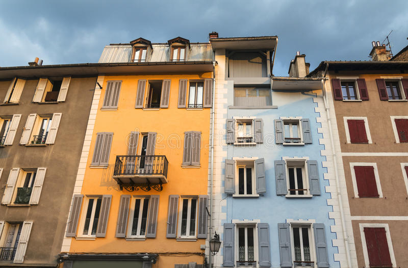 Barcelonnette (Alpes français) image stock