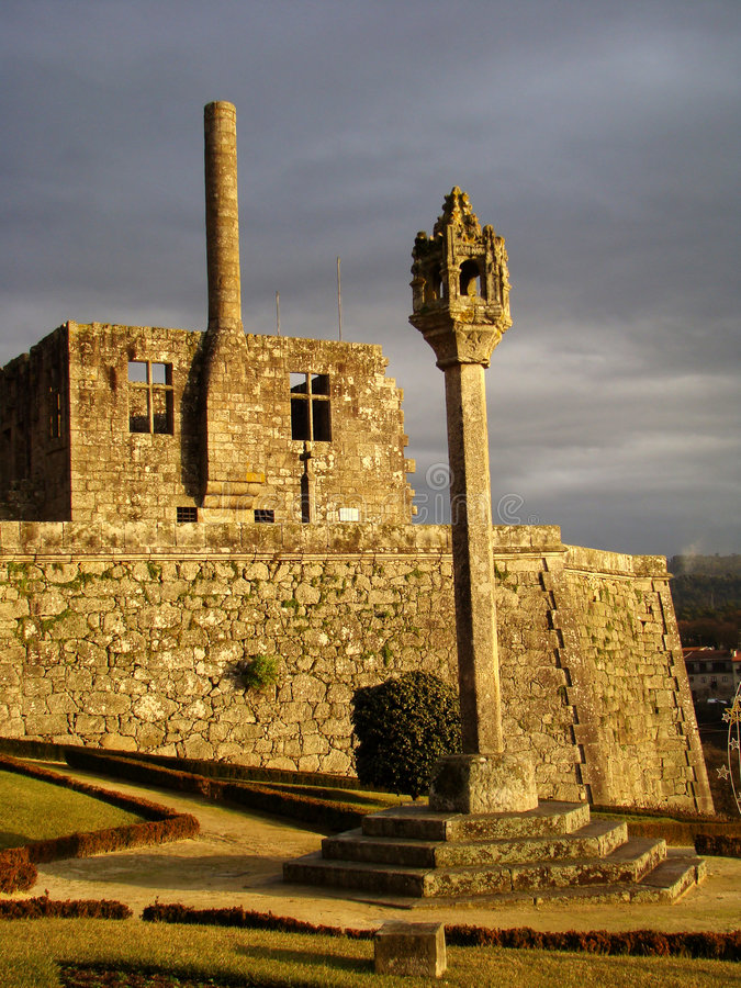 Barcelos Castle royalty free stock photo