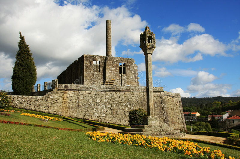 Barcelos castle stock images