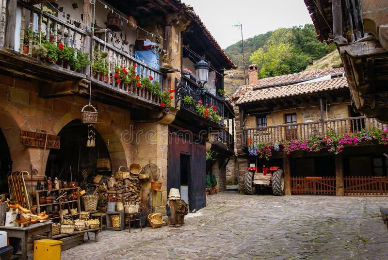 Barcena Maior, Asturia y Cantabria, Spanien royaltyfria foton