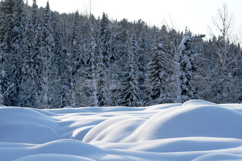 Download Barchans of snow stock image. Image of sample, sensual - 2735219
