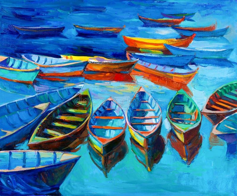 Barche illustrazione vettoriale